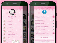 BBM MOD tema Pink Kucing imut Apk V3.2.0.6 terbaru Full DP