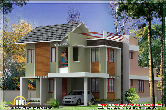 Kerala style house 3D model - May 2012