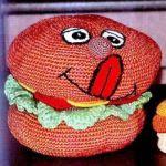 patron gratis hamburguesa amigurumi