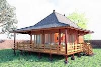 Küçük ahşap bungalov ev