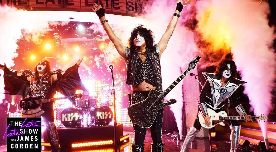 VIDEO: KISS Rocks The Late Late Show