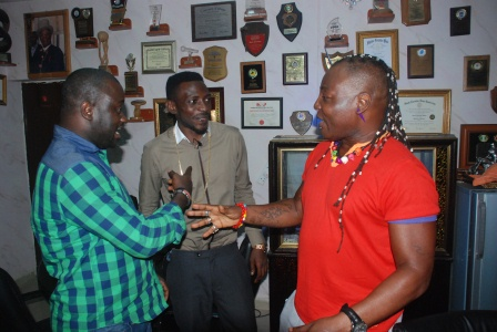 DSC 0927 - PHOTOS: May D visits Charlyboy To Seek blessings for Abuja show