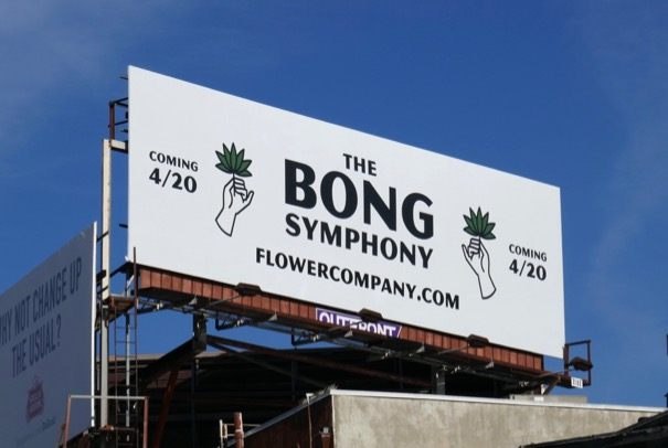 Bong Symphony cannabis billboard
