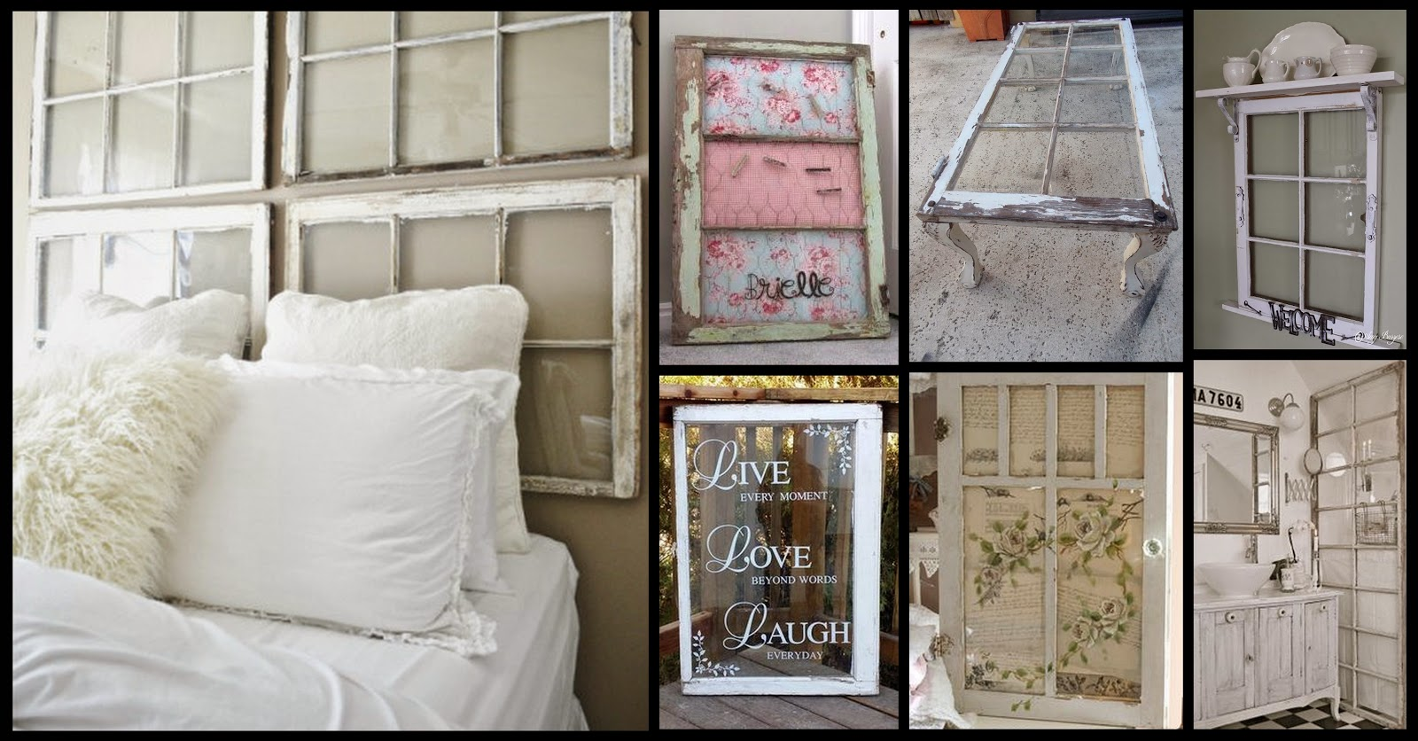 Reclaimed, upcycled, repurposed, vintage windows - Oklahoma City Craigslist Garage Sales