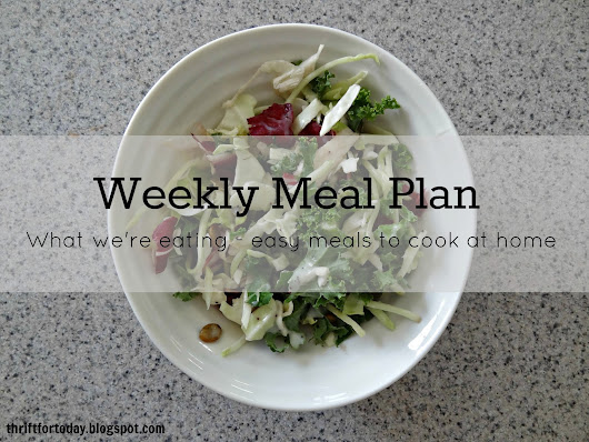 What's on our plate: Weekly meal plan [2]