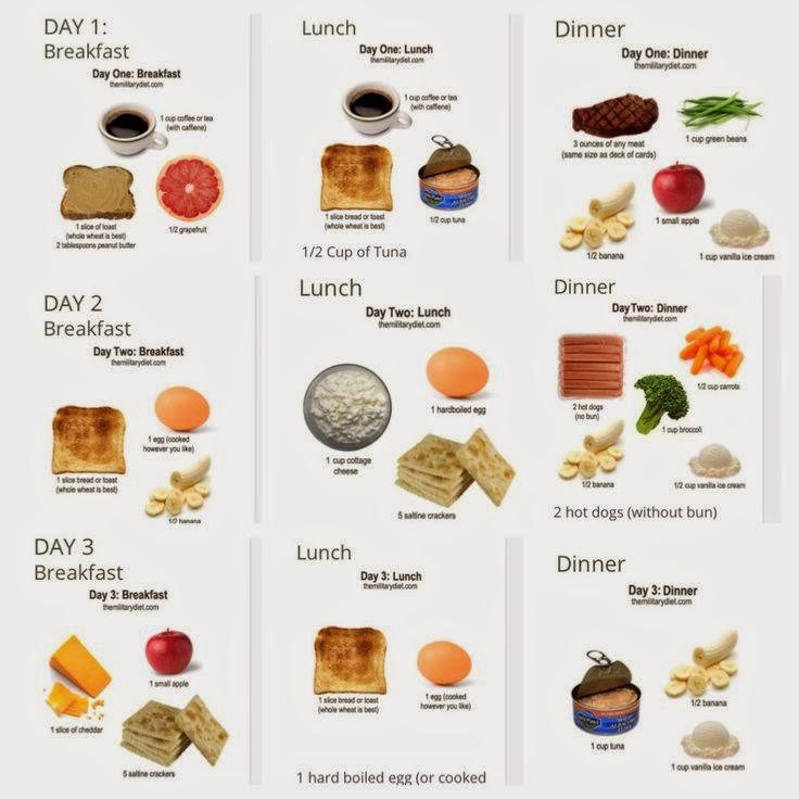 one week military diet