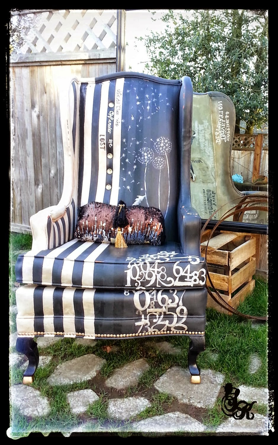 painting an old furniture chair into new home decor