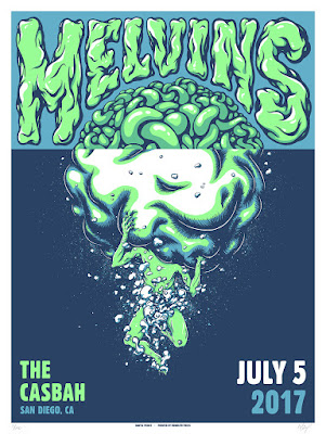 The Melvins glow in the dark concert poster by Daryll Peirce