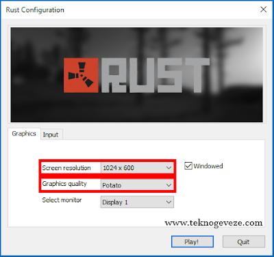 Rust FPS Arttırma Ayarları