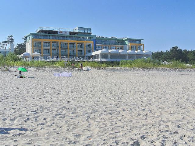 Hotel Bryza w Juracie, plaża przy hotelu jak wygląda