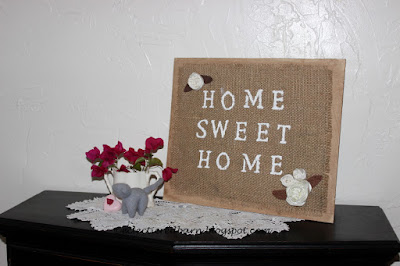 Eclectic Red Barn: Finished Home Sweet Home Sign