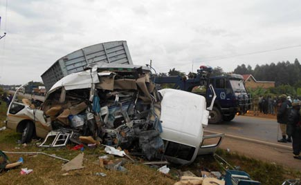 Deadly accident on Masaka road  claims five including former RDC