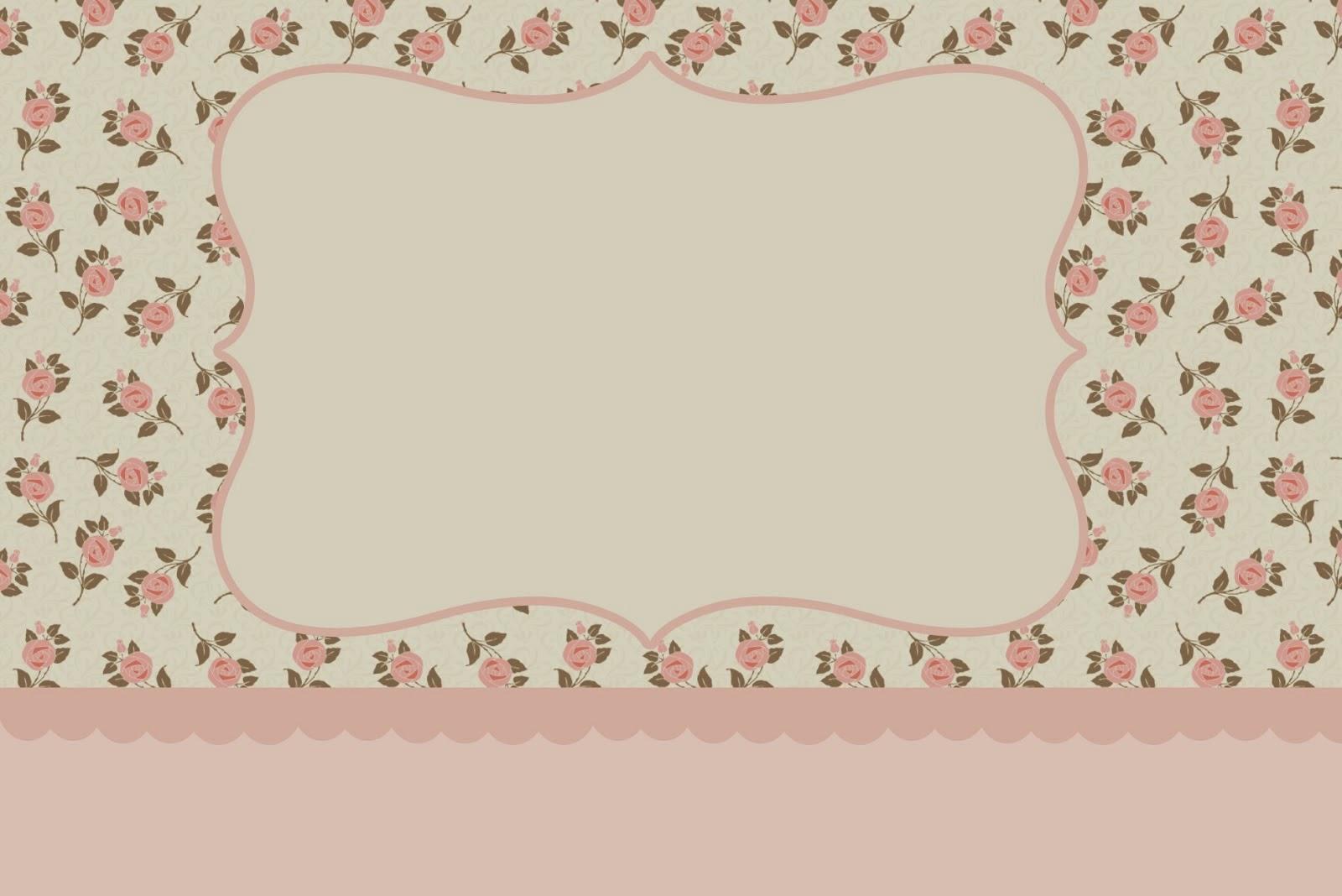 Delicadas rosas invitaciones para imprimir gratis for Formas de letras para cumpleanos