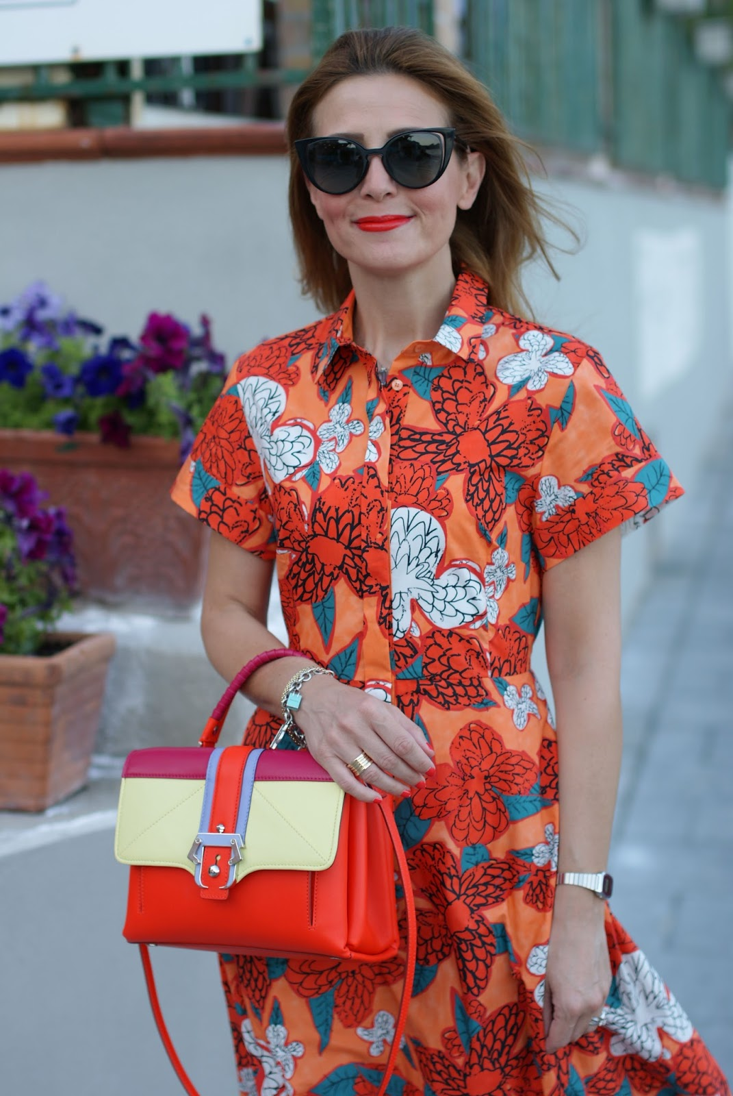 Ferragosto last minute with orange maxi dress and Paula Cademartori bag on Fashion and Cookies fashion blog, fashion blogger style