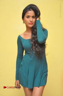 Telugu Actress Prasanthi Stills in Green Short Dress at Swachh Hyderabad Cricket Press Meet  0036.JPG