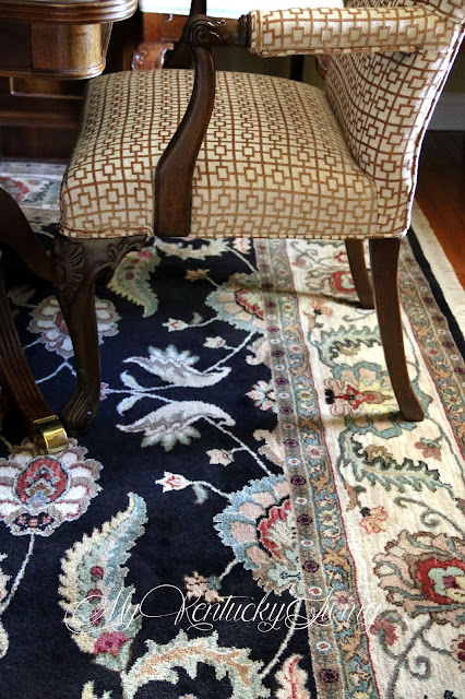 Traditional chair and oriental rug
