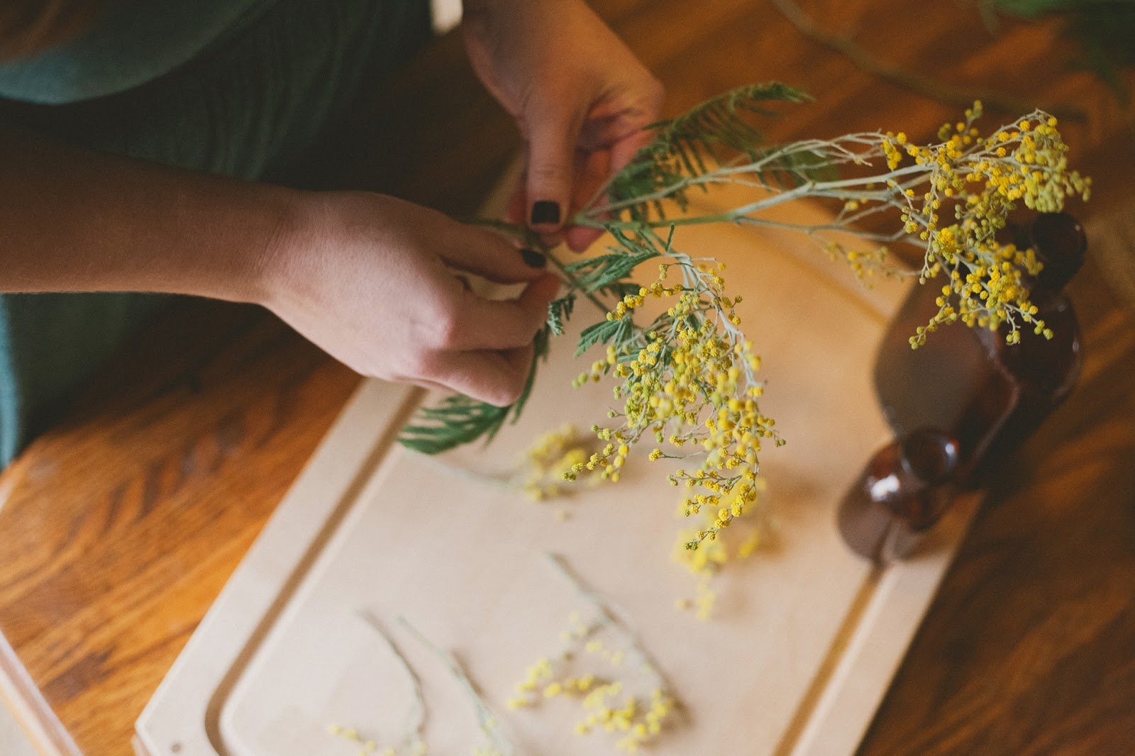 As You Wish Floral Design Early Spring Wedding At The Hy: The Green Dandelion // Floral Design & Botanical Styling