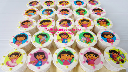 Birthday Cupcake Edible Image Dora