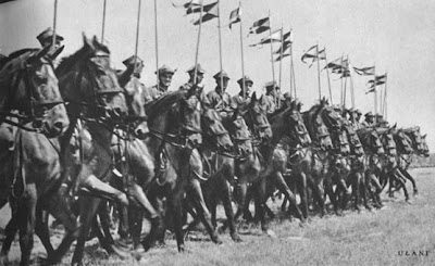 Polish Uhlans in riding formation 1939 Poland