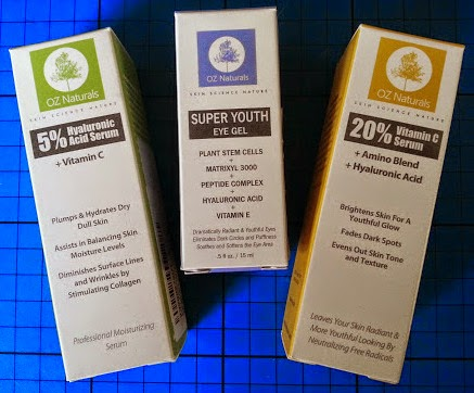 Oz Naturals Skincare Range Review including Hyaluronic Acid