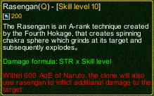 naruto castle defense 6.0 naruto Rasengan detail
