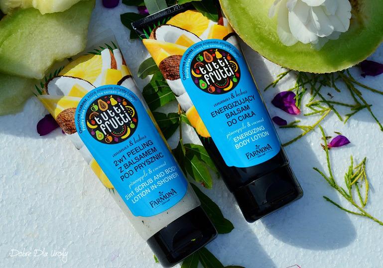Farmona Tutti Frutti Ananas&Kokos Energetyzujący balsam do ciała oraz Peeling z balsamem pod prysznic 2w1