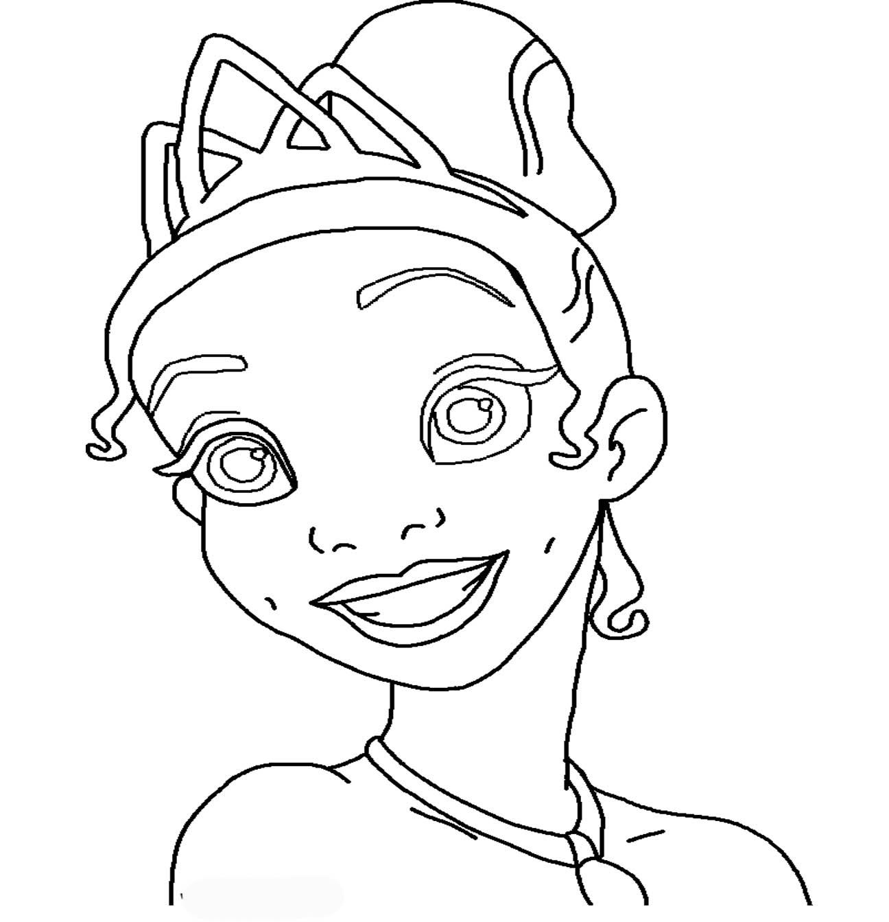 Disney Princess Tiana Coloring Pages To Girls