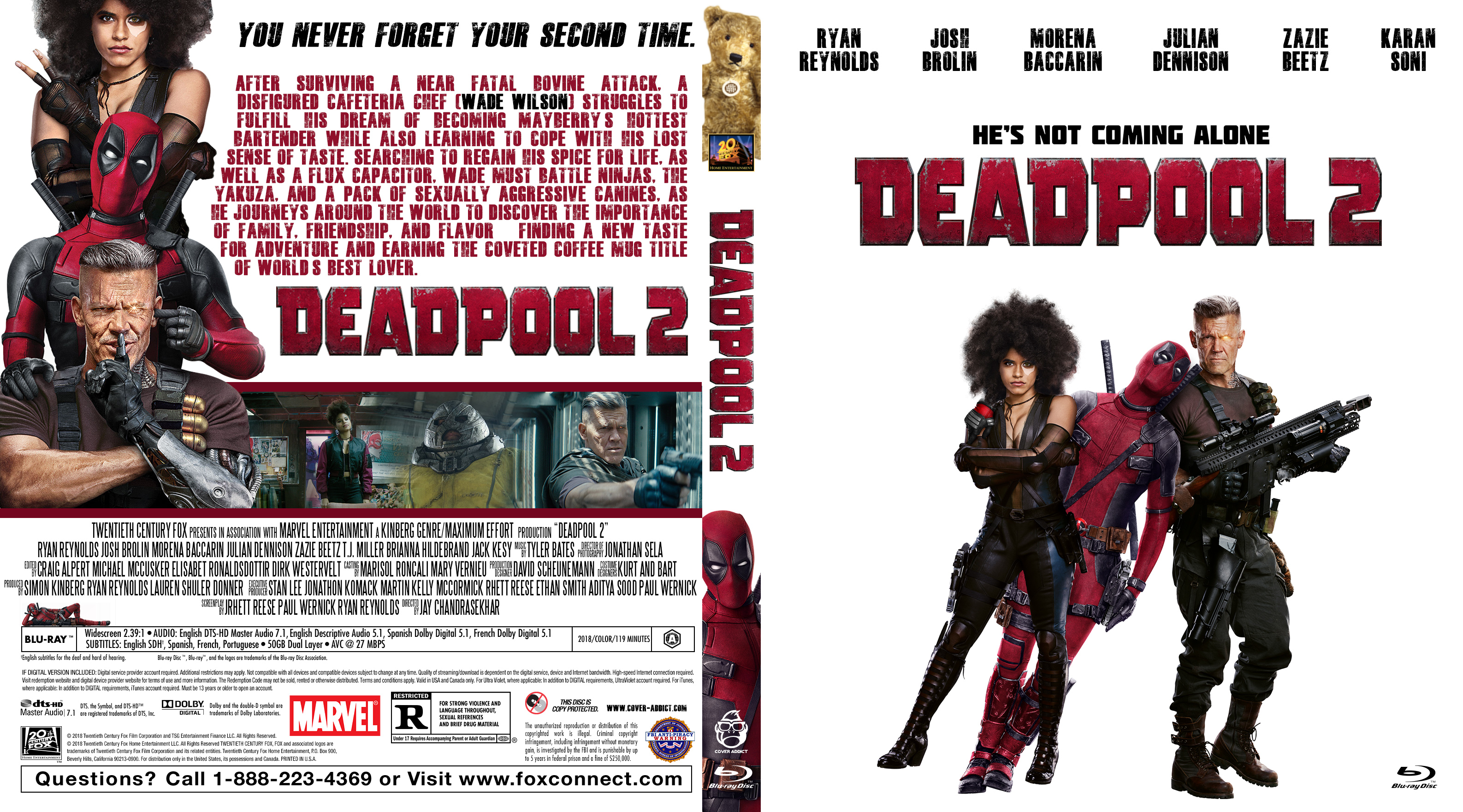300 Full Movie >> Deadpool 2 Bluray Cover - Cover Addict - DVD and Bluray Covers
