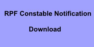 RPF Constable Notification