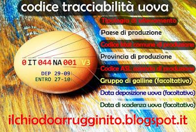Come leggere codice tracciabilià uova?