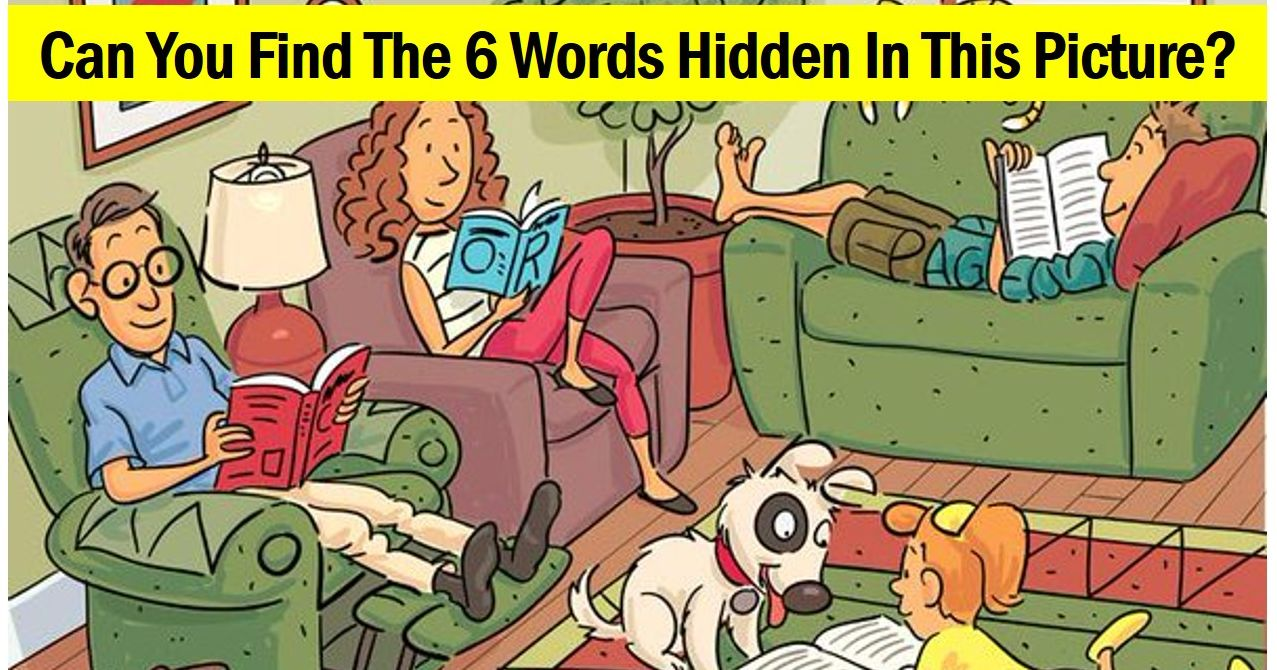Can You Find The Six Words Hidden In These Pictures?