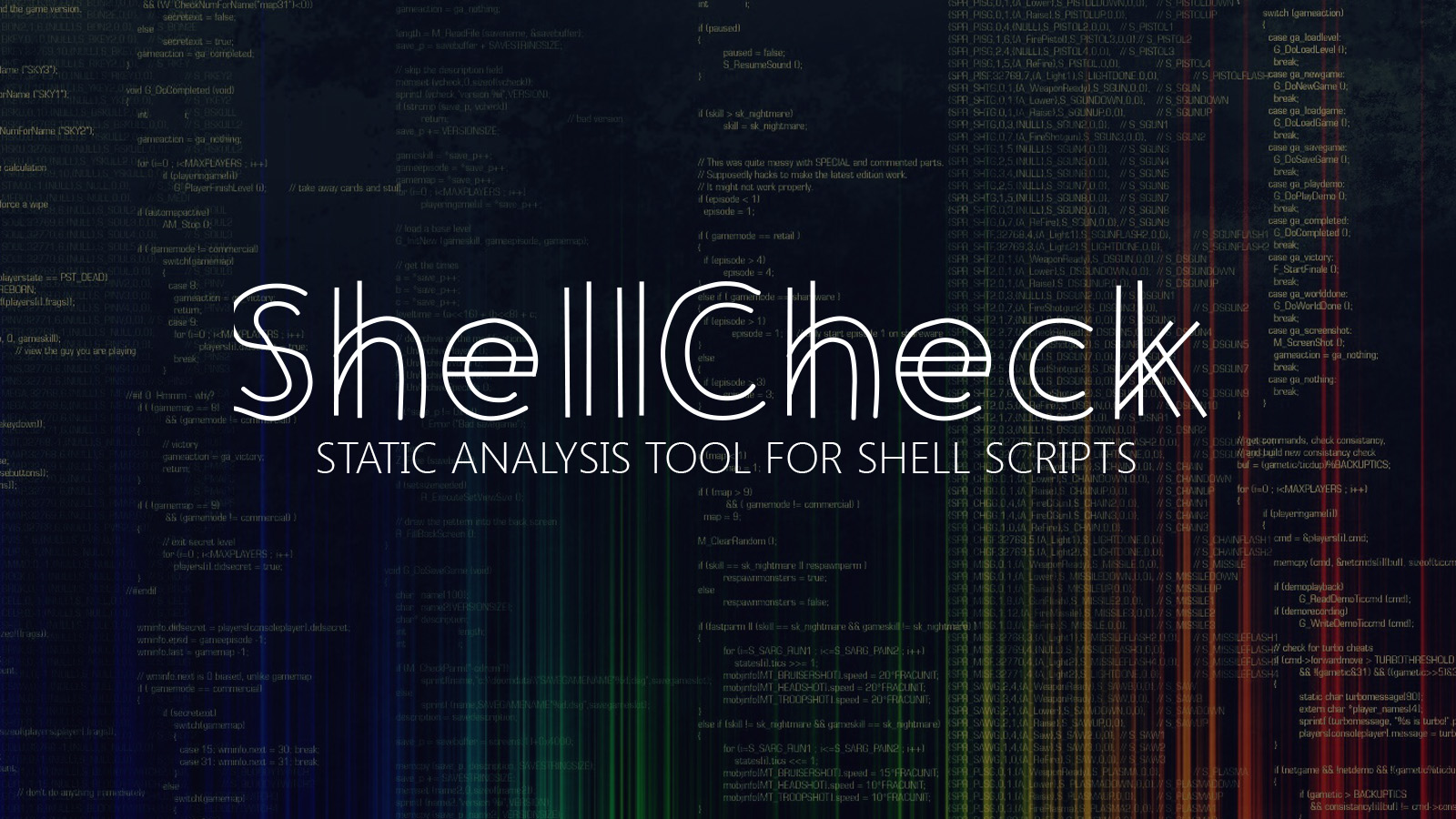 ShellCheck - Static Analysis Tool for Shell Scripts