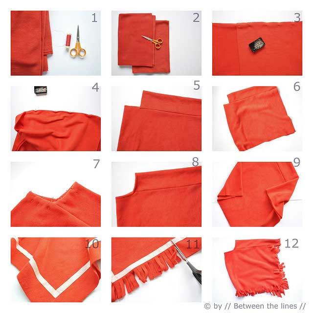 mantas-ponchos, ponchos, ponchos de fieltro, tela
