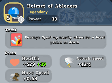 World of Legends Helmet of Ableness