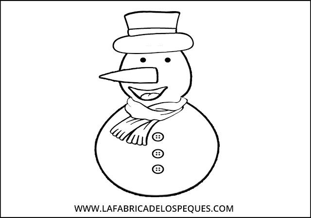 Moldes gratis muñeco y copos nieve