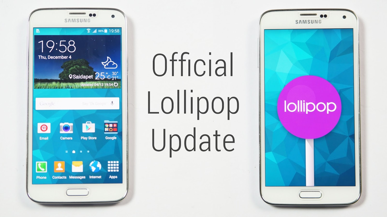 Update Galaxy S5 G900H with Official Android 5 0 XXU1BOA8