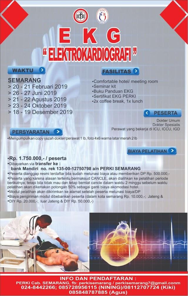 """Jadwal Pelatihan EKG """"Elektrokardiografi"""" PERKI SEMARANG TAHUN 2019"""