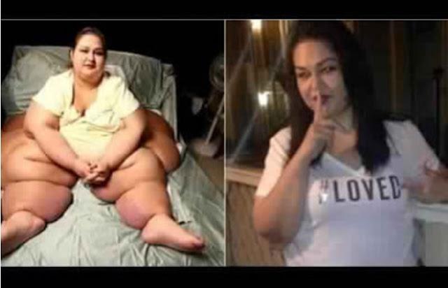 لكل من فقد الامل فى الحصول على وزن مثالى شاهد قصه هذه الامريكيه التى خسرت كامل وزنها الزائد فى 6 أشهر فقط وتفاصيل الرجيم الخاص بها
