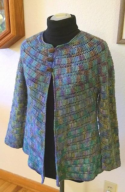 Short coat Crochet pattern