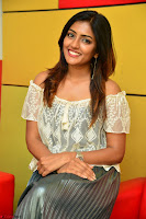 Eesha in a cute deep neck top and Skirt at at Big FM 036.JPG