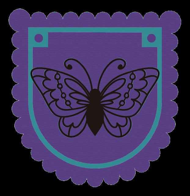 Bandera de decoración: Mariposa.