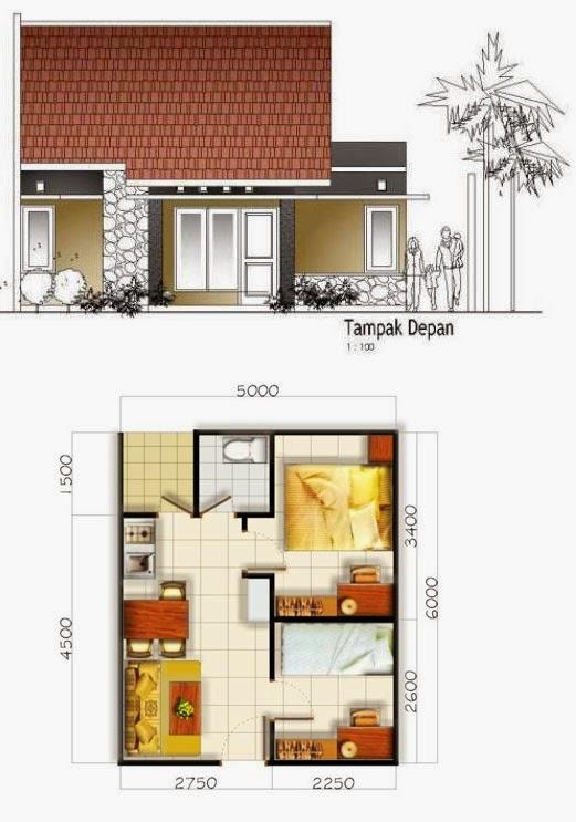 Sketsa Rumah Sederhana Dengan 2 Dua Kamar