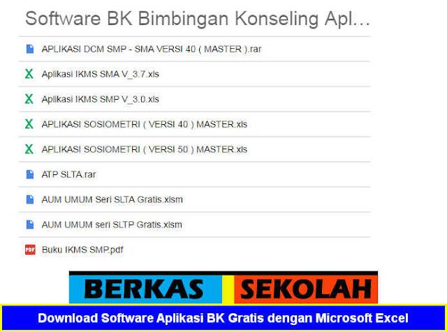 Download Software Aplikasi BK Gratis Format Microsoft Excel