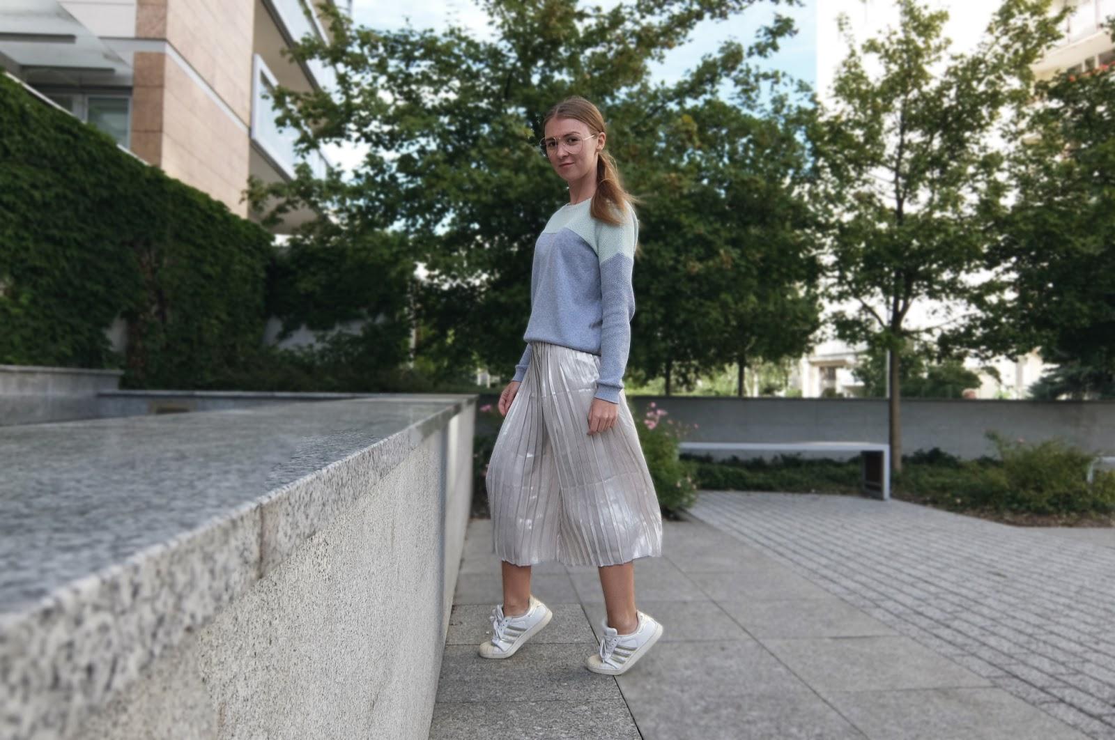trend alert plisowana spódnica