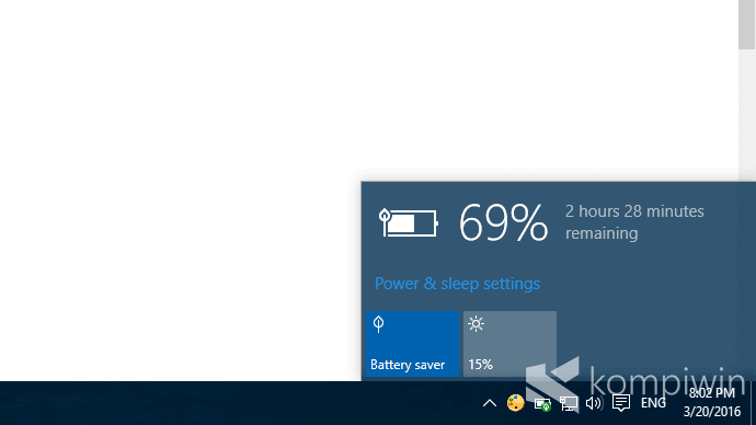 battery saver penghemat baterai di windows 10