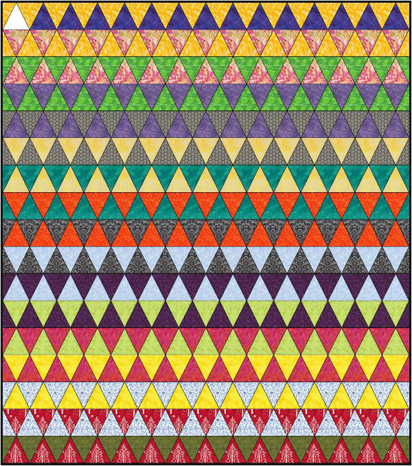 Triangle Quilt Design | DevotedQuilter.blogspot.com