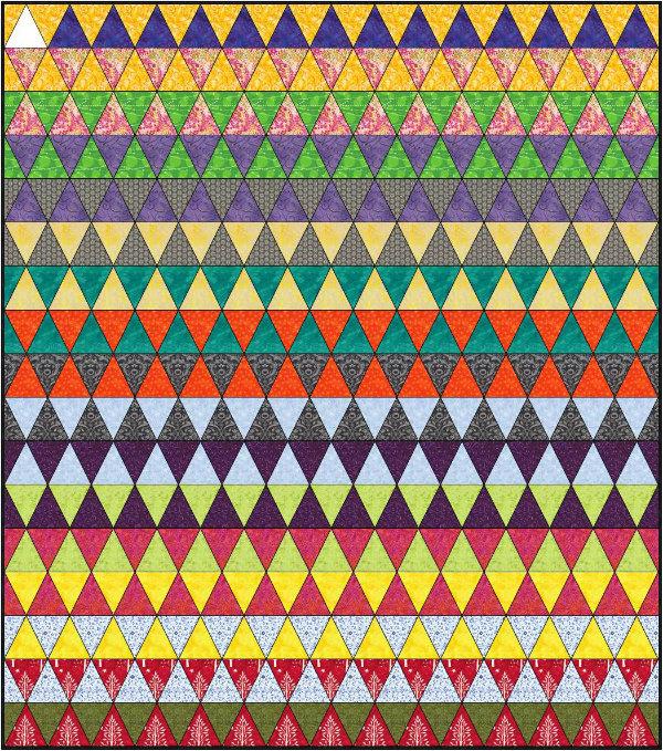 Triangle Quilt Design | DevotedQuilter.blogspot.com