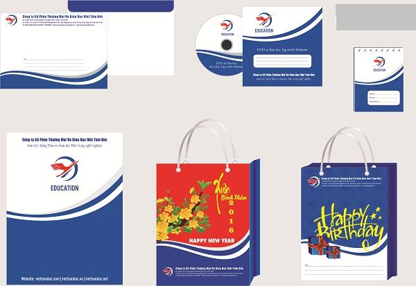 Bộ nhận diện thương hiệu tại khóa học thiết kế đồ họa tại Bắc Từ Liêm