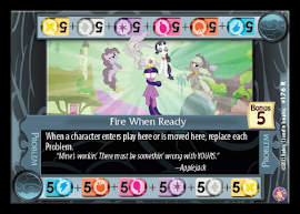 My Little Pony Fire When Ready Absolute Discord CCG Card