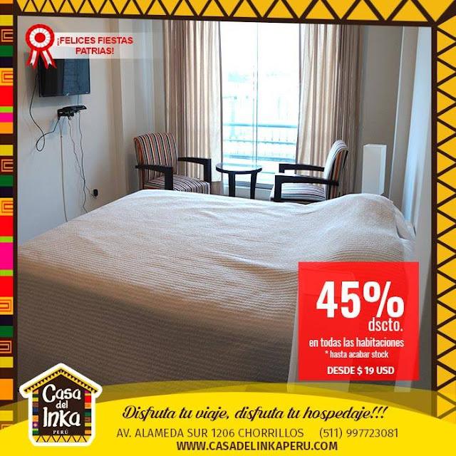 Hotel turistico ubicados en Chorrillos, Lima Peru